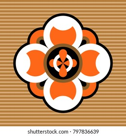 abstract geometric floral design element, vector design