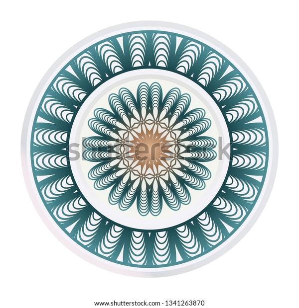 Abstract Geometric Flower Stylish Fashion Design Stock Image