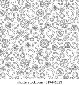 Abstract geometric gear black and white graphic design cog wheel pattern