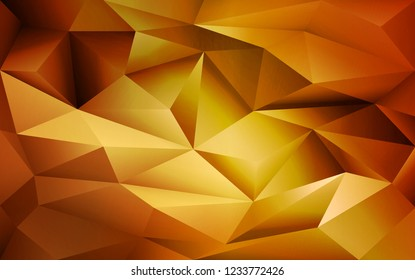 Abstract geometric golden poligonal background. Vector digital background for business, web, applications. Abstract vector wallpaper.
