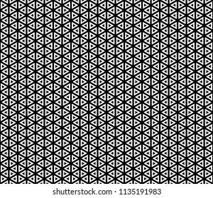 Abstract Geometric Graphic Design Seamless Pattern with Triangles. Vector Illustration.