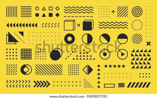 Abstract geometric graphic element vector
