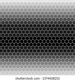 Abstract geometric graphic seamless hexagon pattern