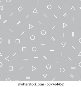 Abstract geometric gray memphis fashion design subtle pattern