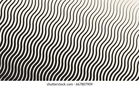 Abstract geometric halftone zigzag pattern. Vector background