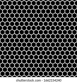 Abstract geometric hexagon black and white pattern background. Vector illustration. EPS 10