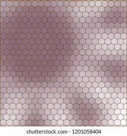 abstract geometric hexagon grid - background illustration from the shades of brown, white, gray, pink and purple in the shape of a flower
