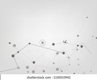 Abstract Geometric High Technology Vector.The network connection illustration