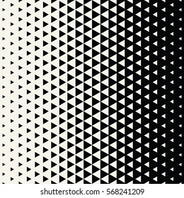 Abstract geometric hipster fashion design print halftone triangle pattern