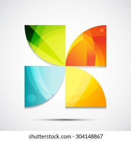 Abstract geometric icon. The illustration of universal shape concept