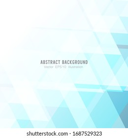 Abstract geometric or isometric white and blue polygon or low poly vector technology business concept background. EPS10 illustration style design.