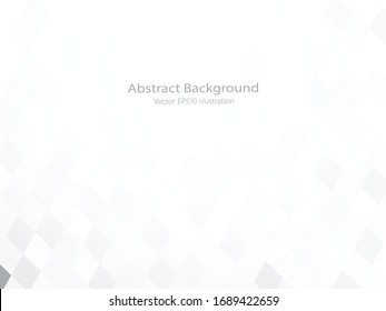 Abstract geometric or isometric white and gray polygon or low poly vector technology concept background. EPS10 illustration style design.