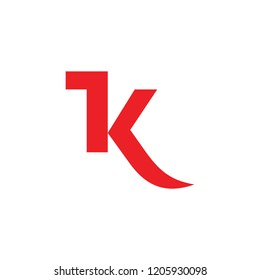 abstract geometric letter k logo