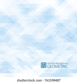 Abstract geometric  light blue  background of triangles. Vector. For printing, Internet, packaging, design