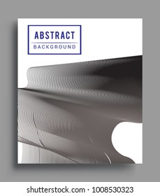 Abstract geometric line pattern background for business brochure cover design. black and white, Applicable for placards, brochures, posters, covers and banners. Vector Design