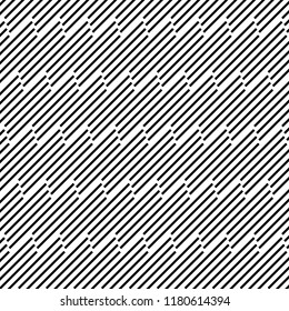Abstract geometric lines with diagonal black stripes. Vector illustration