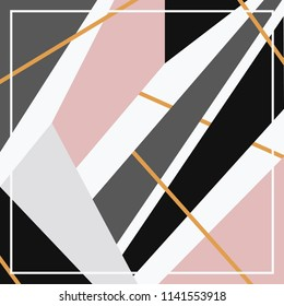 Abstract geometric lines for silk scarf design