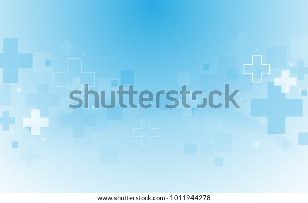Abstract geometric medical cross shape medicine and science concept background