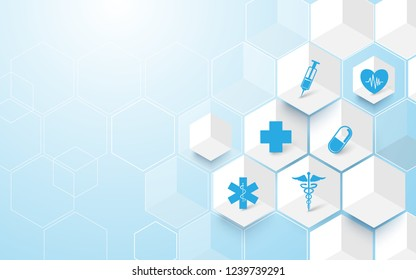 Abstract geometric modern background. Medicine and science concept background