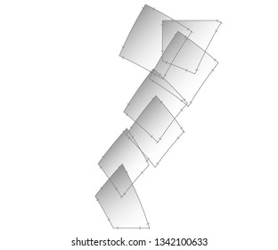Abstract geometric modern design object
