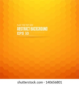 Abstract geometric orange background for design