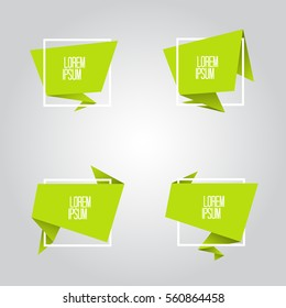 Abstract geometric origami speech bubble. Vector illustration.