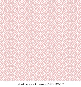 Abstract geometric patern with squares. A seamless vector background. Pink  and white texture. Graphic modern pattern