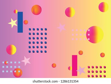 Abstract geometric pattern background, bright colors, liquid shapes.
