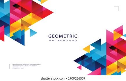 abstract geometric pattern and background. Abstract polygonal background. Vector illustration for your designs. Modern template for business or technology presentation, vector illustration.