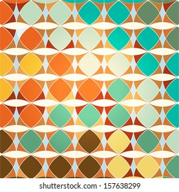 abstract geometric pattern background, retro/vintage style, with circle/oval