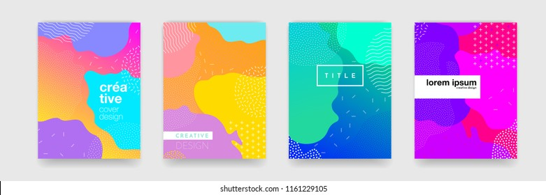 Abstract geometric pattern background texture for poster cover design. Minimal color gradient banner template. Modern vector wave shape for brichure