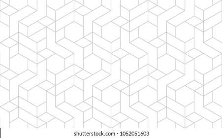 Abstract geometric pattern with crossing thin grey lines on white background. Seamless linear rapport. Stylish fractal texture. Vector pattern to fill the background, laser engraving and cutting.