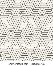 Abstract geometric pattern with crossing thin lines. Seamless linear rapport. Stylish fractal texture. Vector rapport to fill the background, laser engraving and cutting.