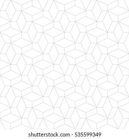 Abstraktes geometrisches Muster mit Kreuzung dünner Linien. Stilvolle Textur in grauer Farbe. Nahtloses lineares Muster.