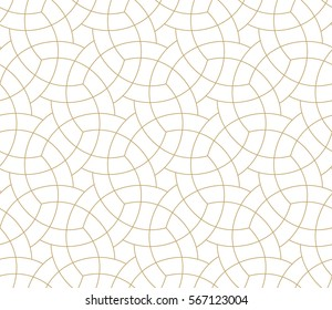 Abstract geometric pattern with crossing thin black lines on gray background. Seamless linear rapport. Stylish vector texture.