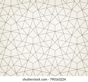 Abstract geometric pattern with crossing thin lines, stars and polygons. Seamless linear rapport. Stylish fractal texture. Vector rapport to fill the background, laser engraving and cutting.