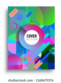 Abstract geometric pattern design and background. modern design, cover, template, decorated, brochure, flyer.