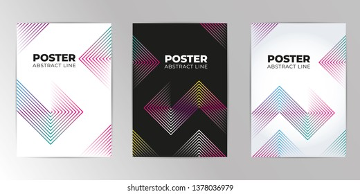Abstract geometric pattern design and background A4 Set. Use for modern design, cover, template, decorated, brochure, flyer. Abstract Colorful Banner Background