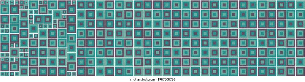 Abstract Geometric Pattern generative computational art illustration