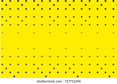 Abstract geometric pattern. Halftone background with squares. Design element for web banners, posters, cards, wallpapers, backdrops, panels, templates. Black and yellow color. Vector illustration