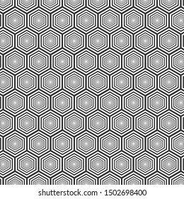 Abstract geometric pattern. Hexagon background