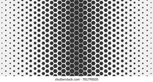 Abstract geometric pattern. Hipster fashion design print hexagonal pattern. Black honeycombs on a light background. Vector Illustration.
