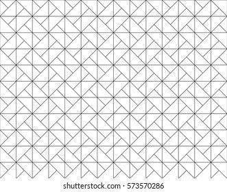 Abstract geometric pattern with line square shape