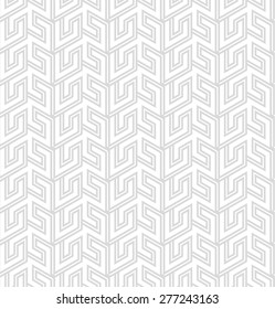 Abstract geometric pattern with lines . A seamless vector background. Gray and white texture.