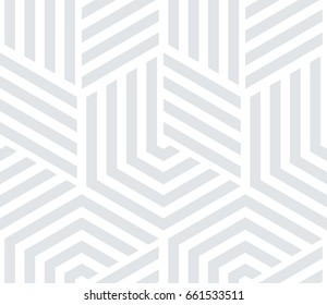 Abstract geometric pattern with lines. A seamless vector background. White and grey texture. Graphic modern pattern.