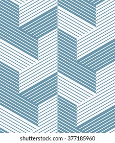 Abstract geometric pattern with lines and stripes.. A seamless vector background. Blue and white texture.
