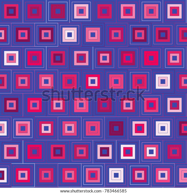 Abstract Geometric Pattern with Multicolored Squares. Colorful Background for Tile, Fabric, Packaging Paper, Tablecloth, Banner, Textile. Surface Textures. Abstract Geometric Pattern in Greek Style.
