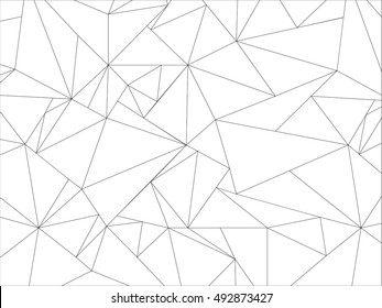 Abstract geometric pattern with origami polygon