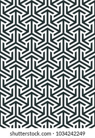 Abstract geometric pattern. Geometric ornament based on a hexagonal grid. Modern simple geometric ornament