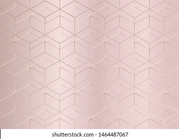 Abstract geometric pattern. Pink pastel texture background. Luxury style. Vector illustration.